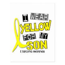 Sarcoma I WEAR YELLOW FOR MY SON 37 Postcard