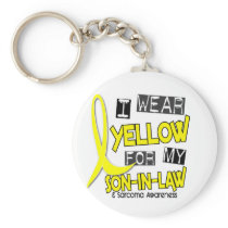 Sarcoma I WEAR YELLOW FOR MY SON-IN-LAW 37 Keychain