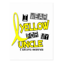 Sarcoma I WEAR YELLOW FOR MY UNCLE 37 Postcard