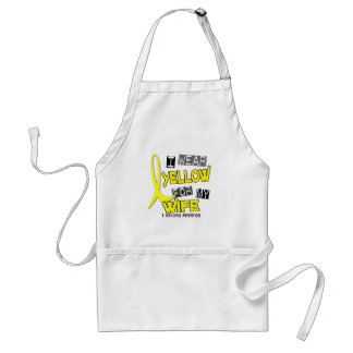 Sarcoma I WEAR YELLOW FOR MY WIFE 37 Apron