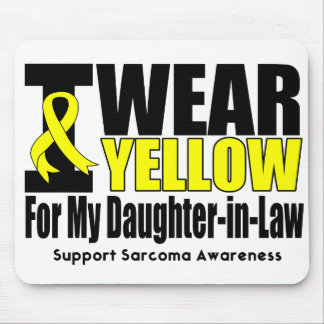 Sarcoma I Wear Yellow Ribbon Daughter-in-Law Mouse Pads