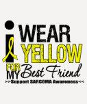 Sarcoma I Wear Yellow Ribbon For My Best Friend T-shirts