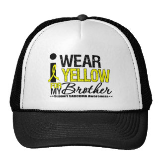 Sarcoma I Wear Yellow Ribbon For My Brother Mesh Hats