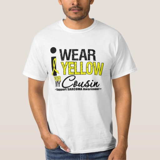 Sarcoma I Wear Yellow Ribbon For My Cousin T-Shirt