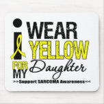 Sarcoma I Wear Yellow Ribbon For My Daughter Mouse Pad