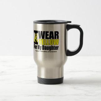 Sarcoma I Wear Yellow Ribbon For My Daughter Travel Mug