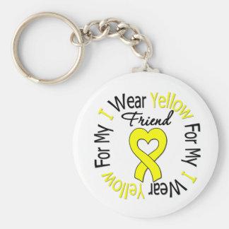 Sarcoma I Wear Yellow Ribbon For My Friend Key Chain
