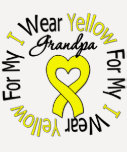Sarcoma I Wear Yellow Ribbon For My Grandpa Shirts