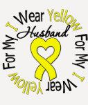Sarcoma I Wear Yellow Ribbon For My Husband T-Shirt