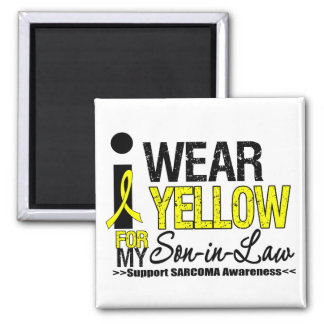 Sarcoma I Wear Yellow Ribbon For My Son-in-Law 2 Inch Square Magnet