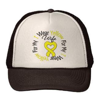 Sarcoma I Wear Yellow Ribbon For My Wife Trucker Hat