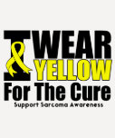 Sarcoma I Wear Yellow Ribbon For The Cure Tee Shirt