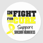 Sarcoma In The Fight For The Cure Classic Round Sticker