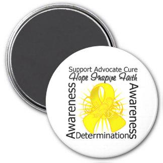 Sarcoma Inspirations Spiral Ribbon 3 Inch Round Magnet