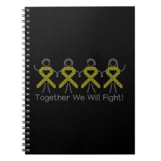 Sarcoma juntos que lucharemos libro de apuntes con espiral