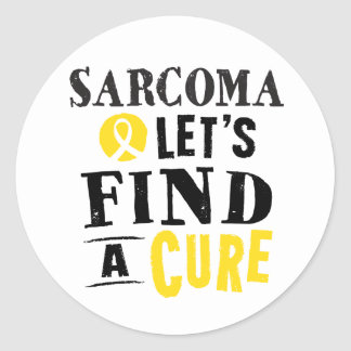 Sarcoma Lets Find A Cure Support Ribbon Stickers