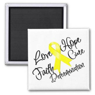 Sarcoma Love Hope Determination 2 Inch Square Magnet