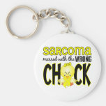 Sarcoma Messed With The Wrong Chick Key Chains