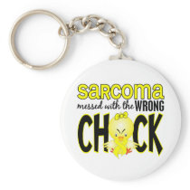 Sarcoma Messed With The Wrong Chick Keychain