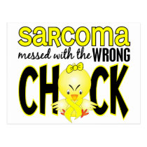 Sarcoma Messed With The Wrong Chick Postcard