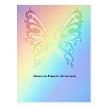 Sarcoma Moms are as Pretty As A Butterfly Postcard