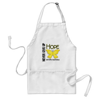 Sarcoma Never Give Up Hope Butterfly 4.1 Aprons