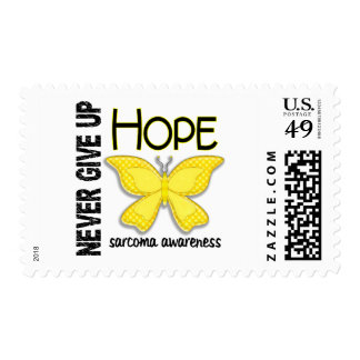 Sarcoma Never Give Up Hope Butterfly 4.1 Postage Stamps