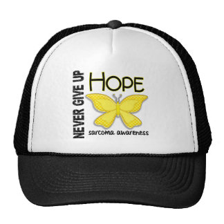 Sarcoma Never Give Up Hope Butterfly 4.1 Trucker Hat