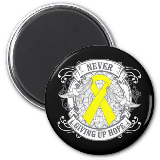 Sarcoma Never Giving Up Hope 2 Inch Round Magnet