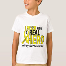 Sarcoma NEVER KNEW A HERO 2 Aunt T-Shirt