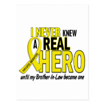 Sarcoma NEVER KNEW A HERO 2 Brother-In-Law Postcard