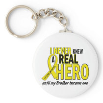 Sarcoma NEVER KNEW A HERO 2 Brother Keychain