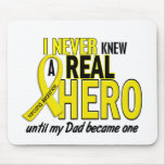 Sarcoma NEVER KNEW A HERO 2 Dad Mouse Mats
