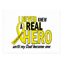 Sarcoma NEVER KNEW A HERO 2 Dad Postcard