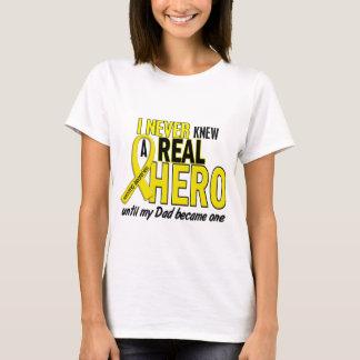 Sarcoma NEVER KNEW A HERO 2 Dad T-Shirt