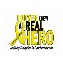 Sarcoma NEVER KNEW A HERO 2 Daughter-In-Law Postcard