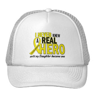Sarcoma NEVER KNEW A HERO 2 Daughter Trucker Hat