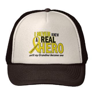 Sarcoma NEVER KNEW A HERO 2 Grandma Trucker Hat