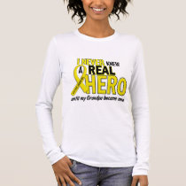 Sarcoma NEVER KNEW A HERO 2 Grandpa Long Sleeve T-Shirt