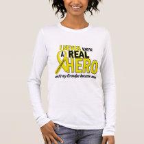 Sarcoma NEVER KNEW A HERO 2 Grandpa Long Sleeve T-Shirt