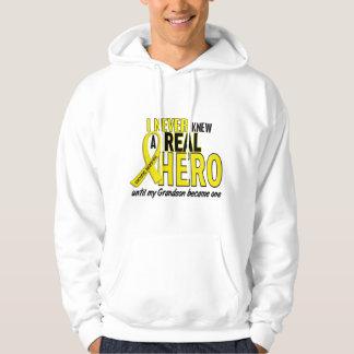 Sarcoma NEVER KNEW A HERO 2 Grandson Hooded Sweatshirt