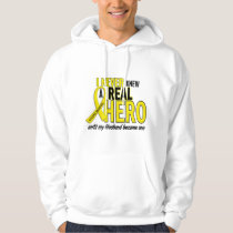 Sarcoma NEVER KNEW A HERO 2 Husband Hoodie