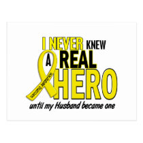 Sarcoma NEVER KNEW A HERO 2 Husband Postcard