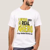 Sarcoma NEVER KNEW A HERO 2 Husband T-Shirt
