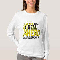 Sarcoma NEVER KNEW A HERO 2 Husband T-Shirt