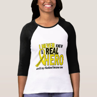 Sarcoma NEVER KNEW A HERO 2 Husband T Shirt