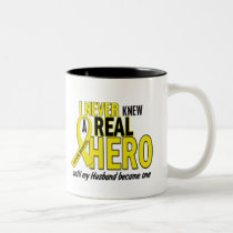Sarcoma NEVER KNEW A HERO 2 Husband Two-Tone Coffee Mug