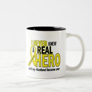 Sarcoma NEVER KNEW A HERO 2 Husband Two-Tone Coffee Mug