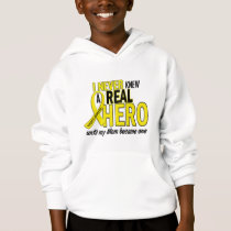 Sarcoma NEVER KNEW A HERO 2 Mom Hoodie