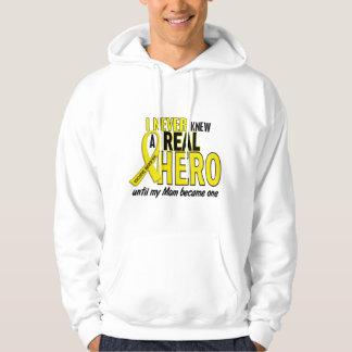 Sarcoma NEVER KNEW A HERO 2 Mom Hoodie